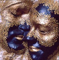Gold lace on a blue face GET LISTED TODAY! http://www.HairnewsNetwork.com  Hair News Network. All Hair. All The time.