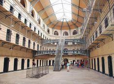 """""""This isn't a Prison Break scenery, welcome to reality in Kilmainham Gaol was built in The goal was to hold some of the most famous political and military leaders in Irish history. Kilmainham Gaol, Welcome To Reality, Prison Break, Dublin, Ireland, Hold On, Irish, Goal, Scenery"""