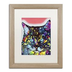 "Trademark Art ""Maine Coon"" by Dean Russo Matted Framed Painting Print Size:"