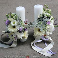 Lumanari botez sau nunta Pillar Candles, Wedding Day, Table Decorations, Cry, Ribbon, Satin, Facebook, Home Decor, Sweet