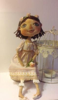 Ткань искусства куклы-авторская кукла ткани куклы-OOAK куклы-текстильные куклы-сбор кукла-кукла - кукла ткань-Мягкая кукла-Кукла-тряпичная кукла-кукла хлопок