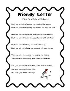 19 best friendly letters images on pinterest teaching cursive friendly letter song freebie and an award m4hsunfo
