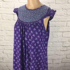 69afa5eda3b Details about Hilo Hattie Vintage Maxi Dress MuuMuu Size M Blue Floral  Hawaii