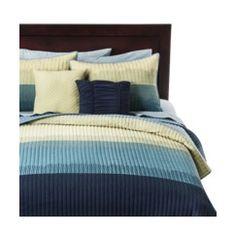 Ombre 5 Piece Quilt Set - Blue Quick Information