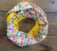 Pineapple Infinity Scarf by KutKloth on Etsy