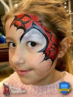 Spider Man Face Paint, Spider Face Painting, Superhero Face Painting, Dragon Face Painting, Face Painting Tips, Face Painting For Boys, Face Painting Tutorials, Face Painting Designs, Spiderman Makeup