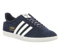 Navy Suede Gazelle Unisex Sneakers by Adidas. As seen on Meghan on February  24,