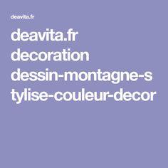 deavita.fr decoration dessin-montagne-stylise-couleur-decor