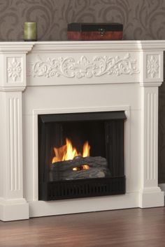 Calvert Carved Ivory Gel Fireplace on HauteLook