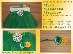 John Deere Tutu Set https://www.facebook.com/media/set/?set=a.471349972907808.102611.188607921182016=3#!/photo.php?fbid=501177146591757=a.471349972907808.102611.188607921182016=3