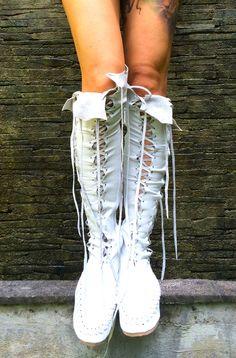 Isla Blanca Knee High Leather Boots