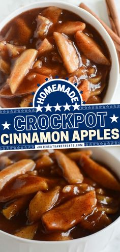 Bust out your slow cooker for this easy dessert recipe with a few ingredients! Nicely coated in a delicious, gooey sauce, these warm Crock Pot Cinnamon Apples taste just like pie without the crust. Check out the ways to serve them up for the perfect sweet treat! Best Crockpot Recipes, Apple Recipes, Great Recipes, Yummy Recipes, Spiced Apples, Cinnamon Apples, Easy Desserts, Dessert Recipes, Tasty