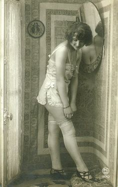 Nice chemise. treadmill-to-oblivion: Lovely vintage legs. PC 1570.
