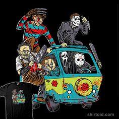 The Massacre Machine #anightmareonelmstreet #childsplay #chucky #freddykrueger #fridaythe13th #ghostface #halloween #horror #jasonvoorhees #leatherface #michaelmyers #nibiruhybrid #scoobydoo #scream #themysterymachine #thetexaschainsawmassacre