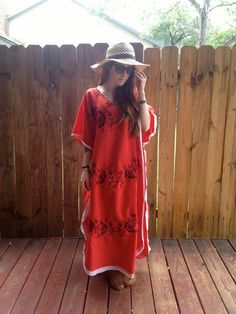 Vintage 70s Boho Red Draped Floral with by AllTheMissingPieces, $25.00
