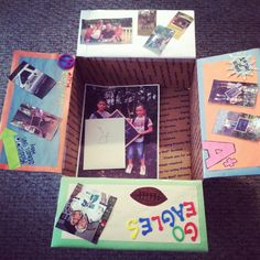 """September """"Back to school & Football Season"""" Care Package I made for my Soldier overseas"""
