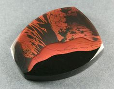 Red ribbon obsidian from Oregon