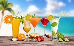 Beach Cocktail Wallpaper