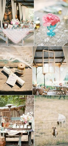 Country style wedding/party styling