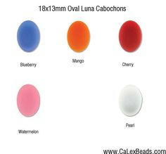 Luna Cabochons 18x13mm Oval in 5 colors to choose from