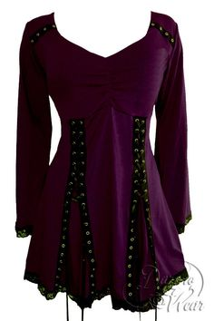 Dare To Wear Gothic Victorian Women s Electra Corset Top Mulberry Victorian  Corset 739b8ba060