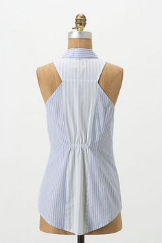Shirt refashion (back portion) Pleated Panel Shell - Anthropologie.com