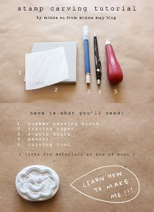 diy hand carved stamp tutorial