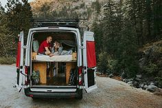 """VANLIFER OF THE DAY """"Its been eye-opening to see other parts of the States with no set agenda. We couldnt do it without the van!"""" @vannathetransit Meet Laura and Shane and their white home on wheels. Link in bio. - Get your story featured! - @vanlife.magazine  your daily vanlife inspiration! -  @echo_photo"""