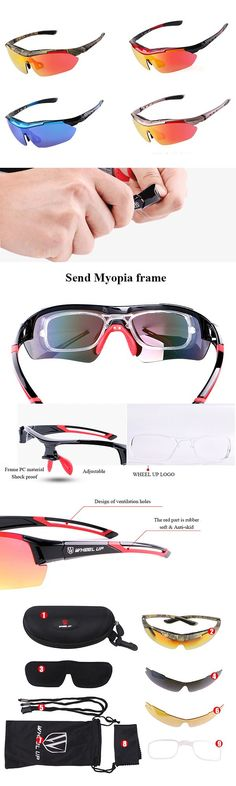 US$17.61 (46% OFF) Mens Polarized Bicycle Goggles : With Myopic Glasses / Glasses lanyard / Interchangeable Lens / Etachable Elbow
