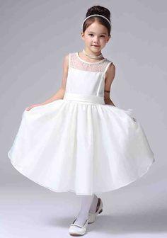 Ivory Organza Flower Girl Dress