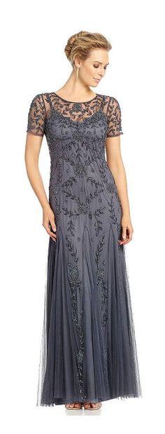 Slate Embellished Mother of the Bride Dress