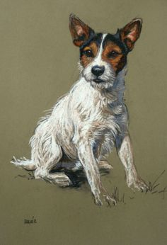 Sitting Pretty, by Heather Irvine (Pastel), she paints divine terriers