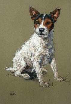 """Sitting Pretty"", Pastel by Heather Irvine, British Award-winning Artist . Dog Drawings, Animal Drawings, Pastel Art, Pretty Pastel, Dog Portraits, Portrait Art, Dog Artwork, Dog Illustration, Vintage Dog"