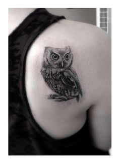 Owl tattoo - so much detail!