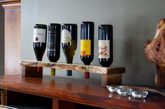 Personalized Wine Rack Rustic Wood Wine por rusticcraftdesign, $72.00