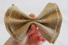Easy No-Sew clip on bowtie tutorial! place on  the back of each chair with hot glue.