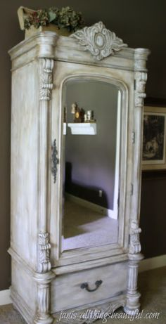Armoire {Painted Furniture} Makeover - If you want to learn how to use Annie Sloan chalk paint and wax, check out Janis's super tutorial.