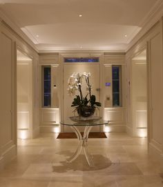 Hallway Lighting Design Ideas You Can Not Miss, Entrance Lighting, Stair Lighting, Linear Lighting, Entrance Foyer, Hallway Lighting, Living Room Lighting, Lighting Design, Lighting Ideas, Modern Entryway