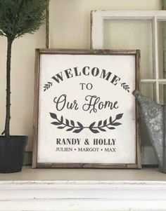 If you want to give your living space a rustic or vintage feel, try awesome DIY wood signs ideas. These signs make for great recycled projects using old wood from a barn, shipping crates, salvage yards. Personalized Wooden Signs, Custom Wooden Signs, Diy Wood Signs, Wooden Diy, Pallet Signs, Custom Signs For Home, Custom Outdoor Signs, Welcome Home Signs, Family Signs