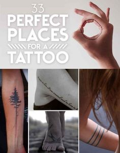 Possibles endroits discrets pour le tatoo
