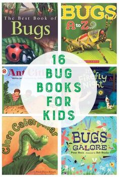 16 Bug Books for Kids. This is such a fun list.