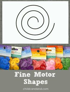 Shape and line cards for fine motor activities.