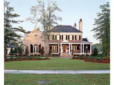 Imagine soaking up the last of summer on the porch of this Southern Living home! It's plan DHSW55451 at www.dreamhomesource.com.