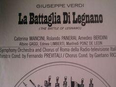 La Battaglia Di Legnano~ Verdi Mancini Panerai~ Everest S-431/3 Rare Sealed Box
