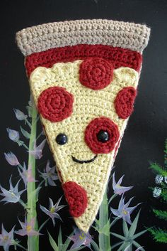 pizza man crochet!! --he's so cute