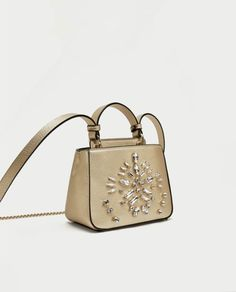 What to Buy at Zara Right Now: Metallic Beaded Crossbody Bag