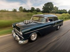 This 1955 Chevrolet Bel Air Packs 512 Cubes, Stacks and the Perfect Stance