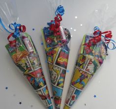 x1 Marvel Super Hero (themed) sweet cone/boy's party bag/party bag filler/favour