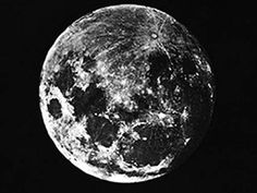 First photograph of the moon by Louis Daguerre, 1839