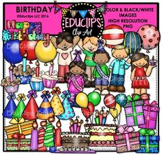 Browse resources on Teachers Pay Teachers, a marketplace trusted by millions of teachers for original educational resources. Birthday Cake Clip Art, Birthday Clips, Black N White Images, Black And White, Queen Birthday, Image Shows, Arts And Crafts, Bulletin Boards